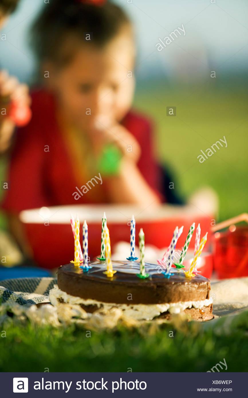A birthday picnic - Stock Image