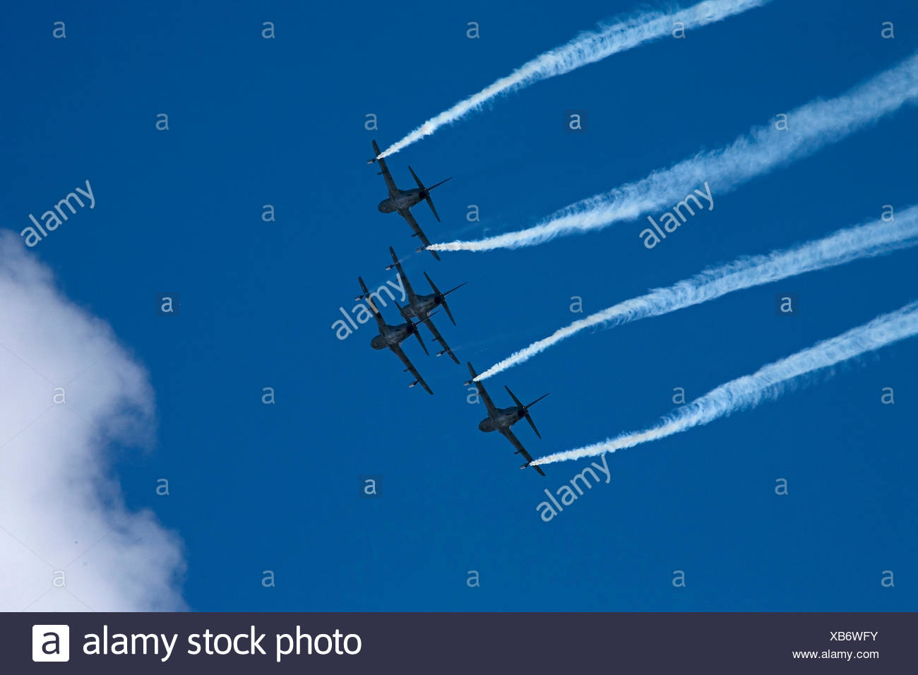 Hawk aeroplane in Air Show Malmi Finland 2009 - Stock Image