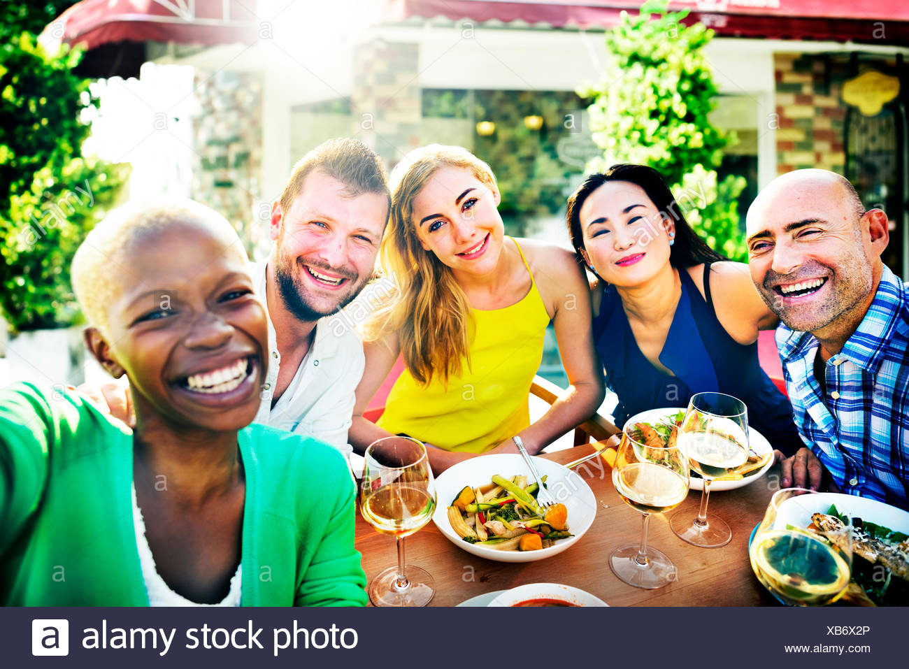 People Party Friendship Togetherness Happiness Concept - Stock Image