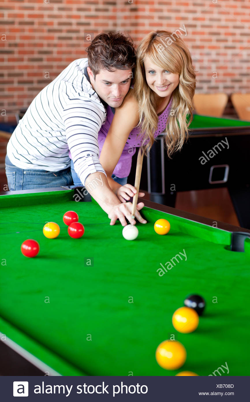 Cute Woman Playing Snooker Stock Photos Cute Woman Playing Snooker - How to play pool table
