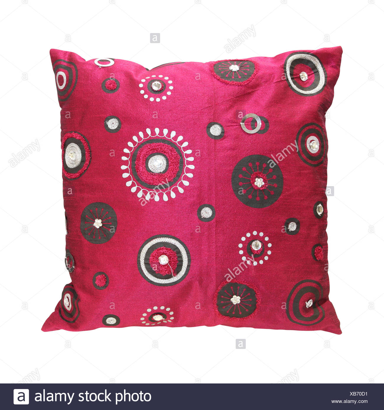 Circles pillow - Stock Image
