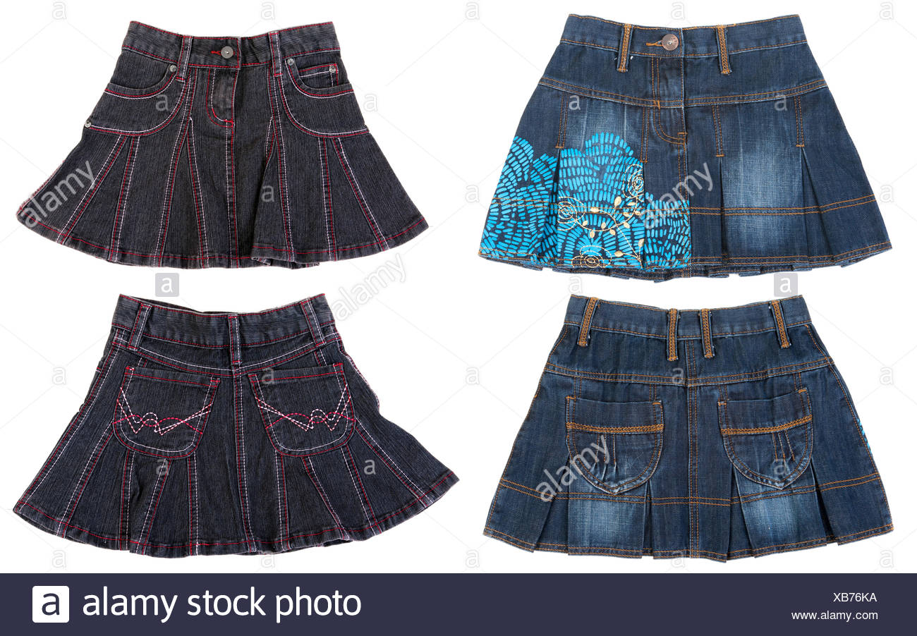 Collage from four feminine skirts - Stock Image