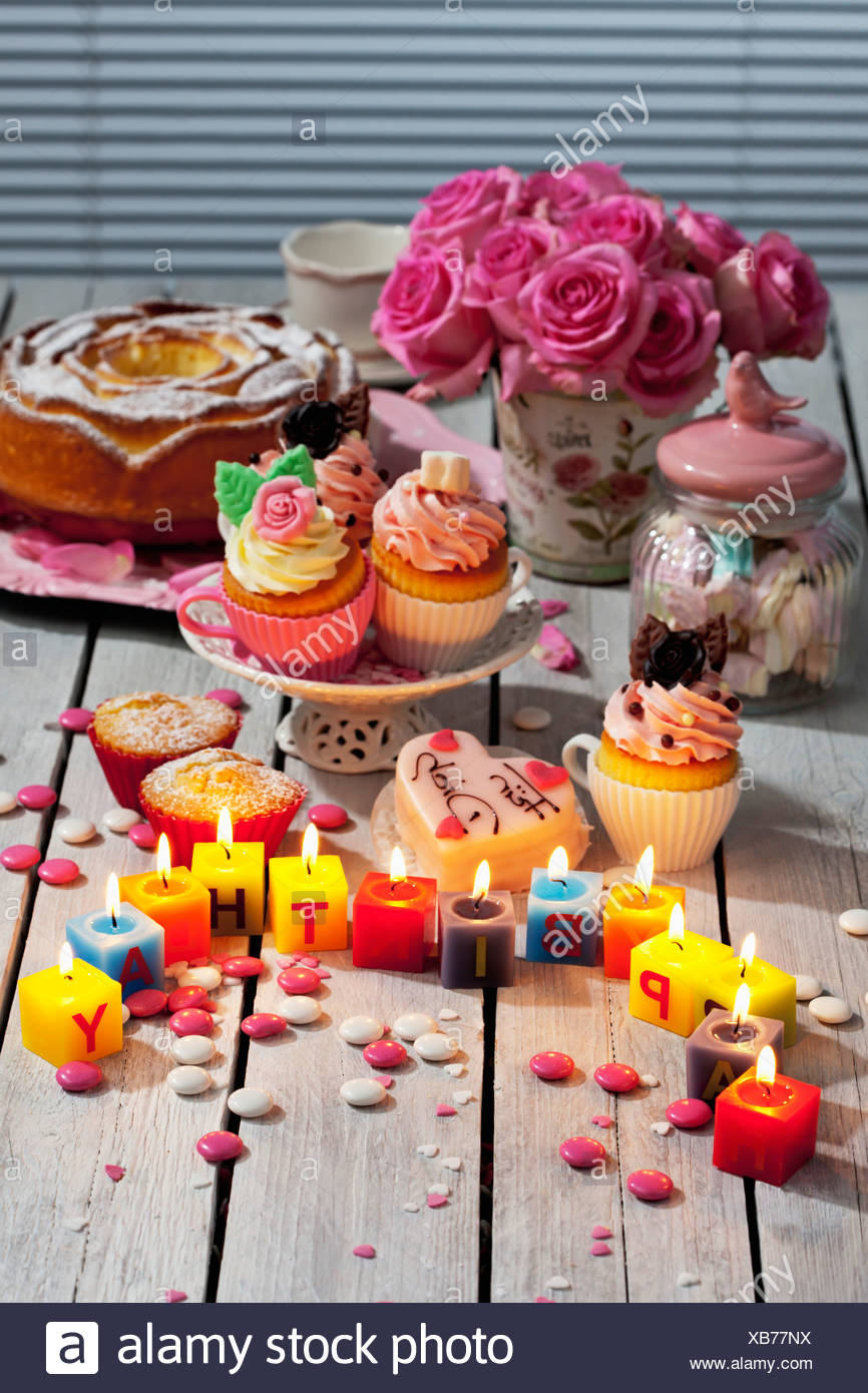 Remarkable Muffins Birthday Cake Cup Cakes Roses Lighted Birthday Candles Funny Birthday Cards Online Eattedamsfinfo