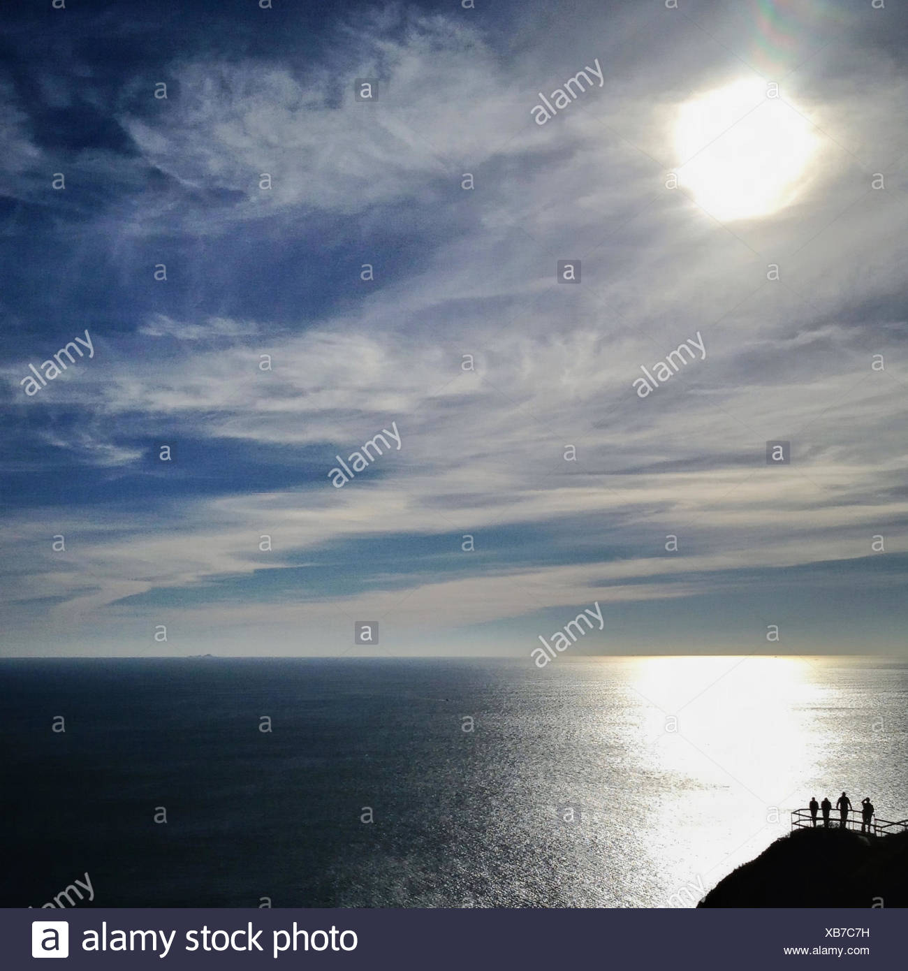 USA, California, Marin County, Muir Beach, View of Pacific Ocean - Stock Image