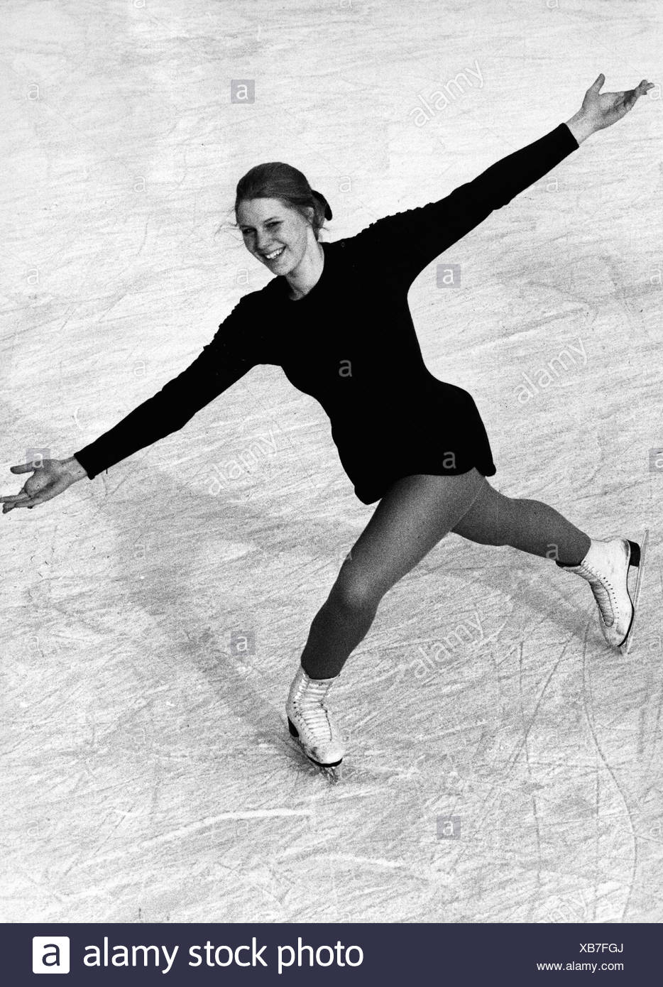Zillmer, Eileen, German athlete (figure skating), German championship, 1971, Additional-Rights-Clearances-NA - Stock Image