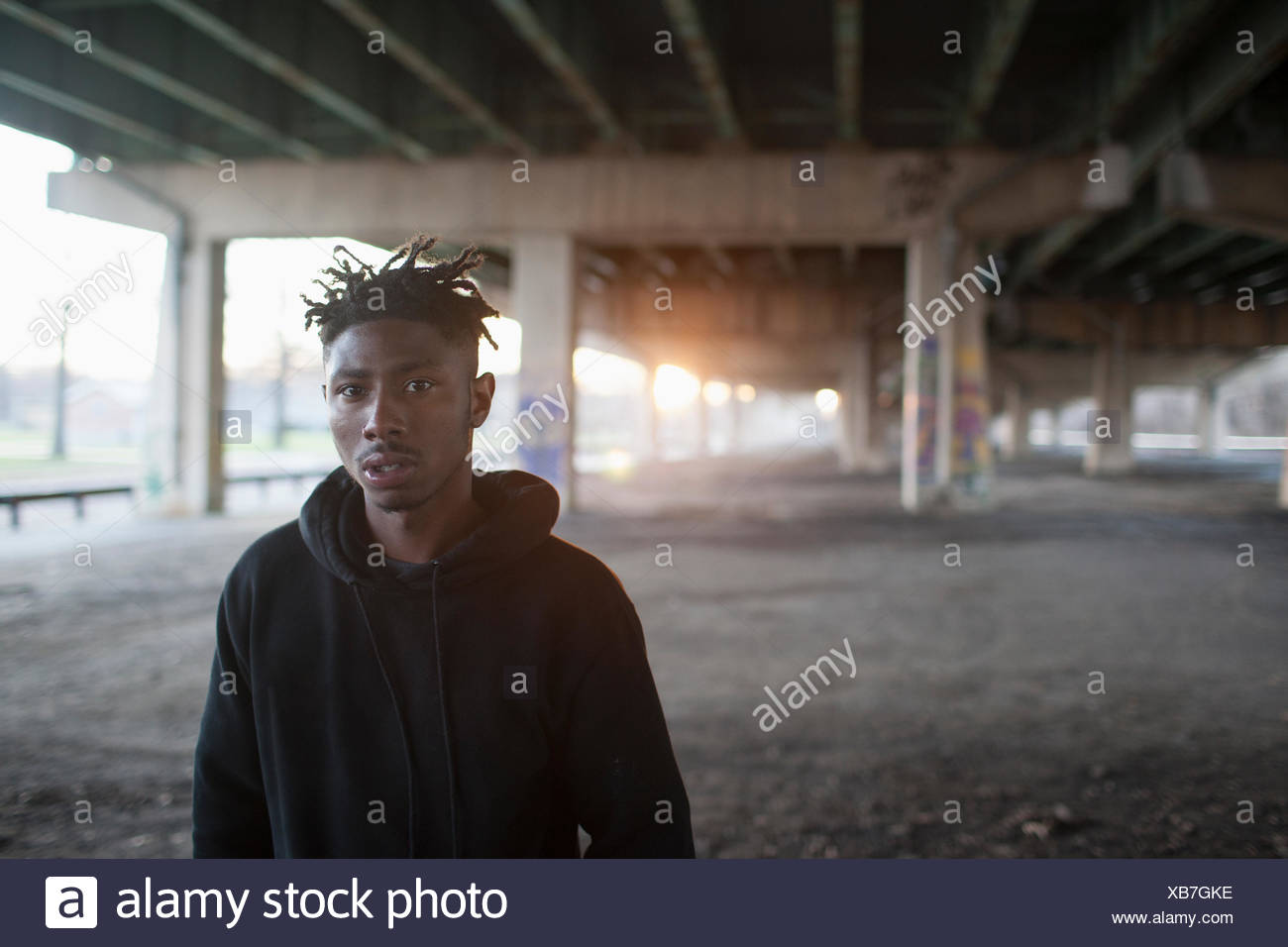 Portrait of a young man. - Stock Image