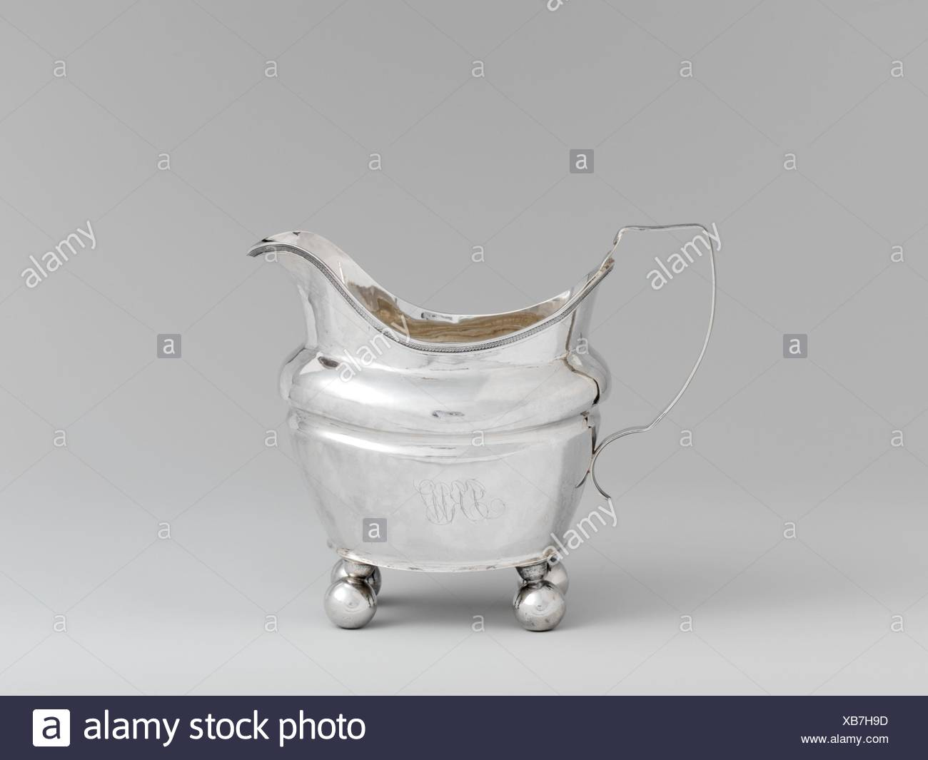 Creamer. Maker: Isaac Hutton (American, New York 1766-1855 Albany, New York); Date: 1810-30; Geography: Made in Albany, New York, United States; - Stock Image