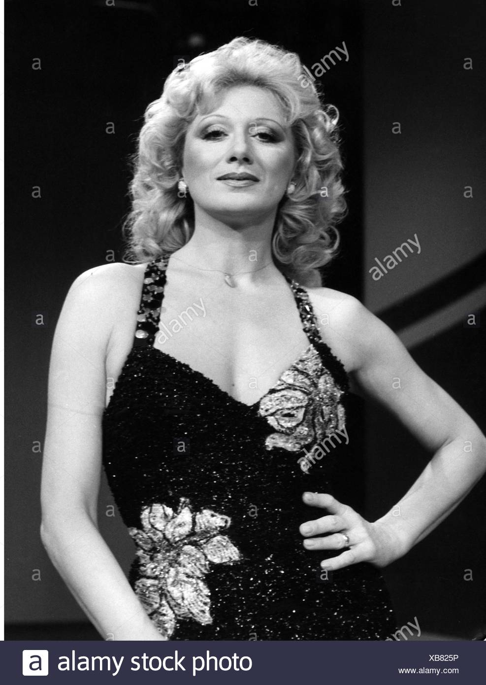 Werner, Margot, 8.12.1937 - 1.7.2012, Austrian dancer and singer, half length, at the ARD television show 'Die verflixte 7', 7.4.1984, Additional-Rights-Clearances-NA - Stock Image