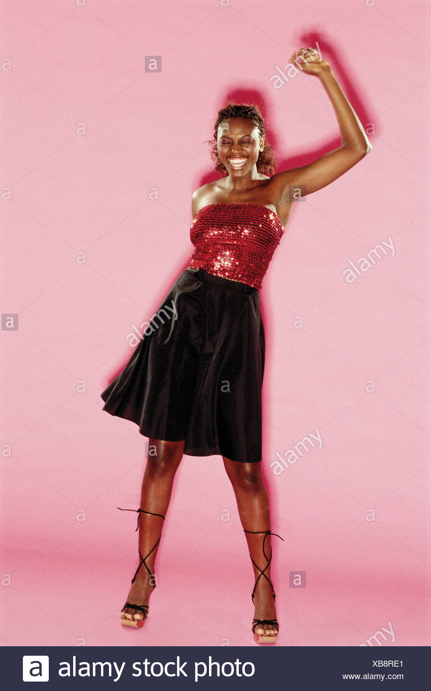 Woman in a black skirt Stock Photo