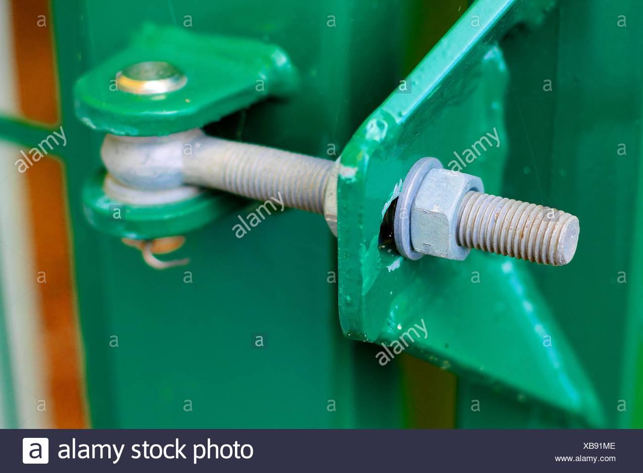 Metal hinge - Stock Image