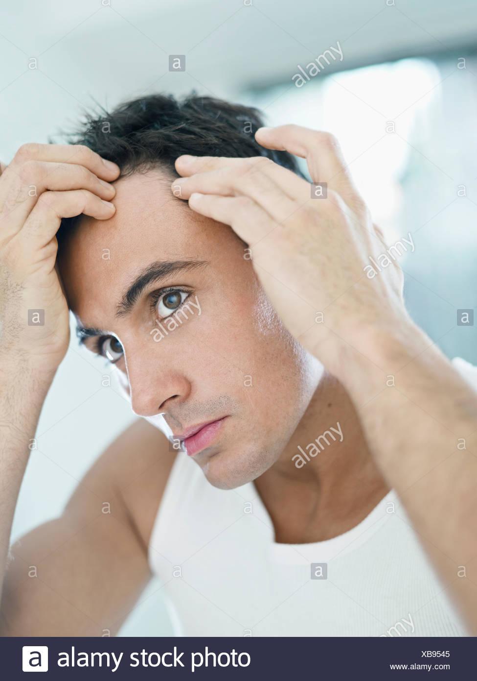 hairline hair beauty - Stock Image
