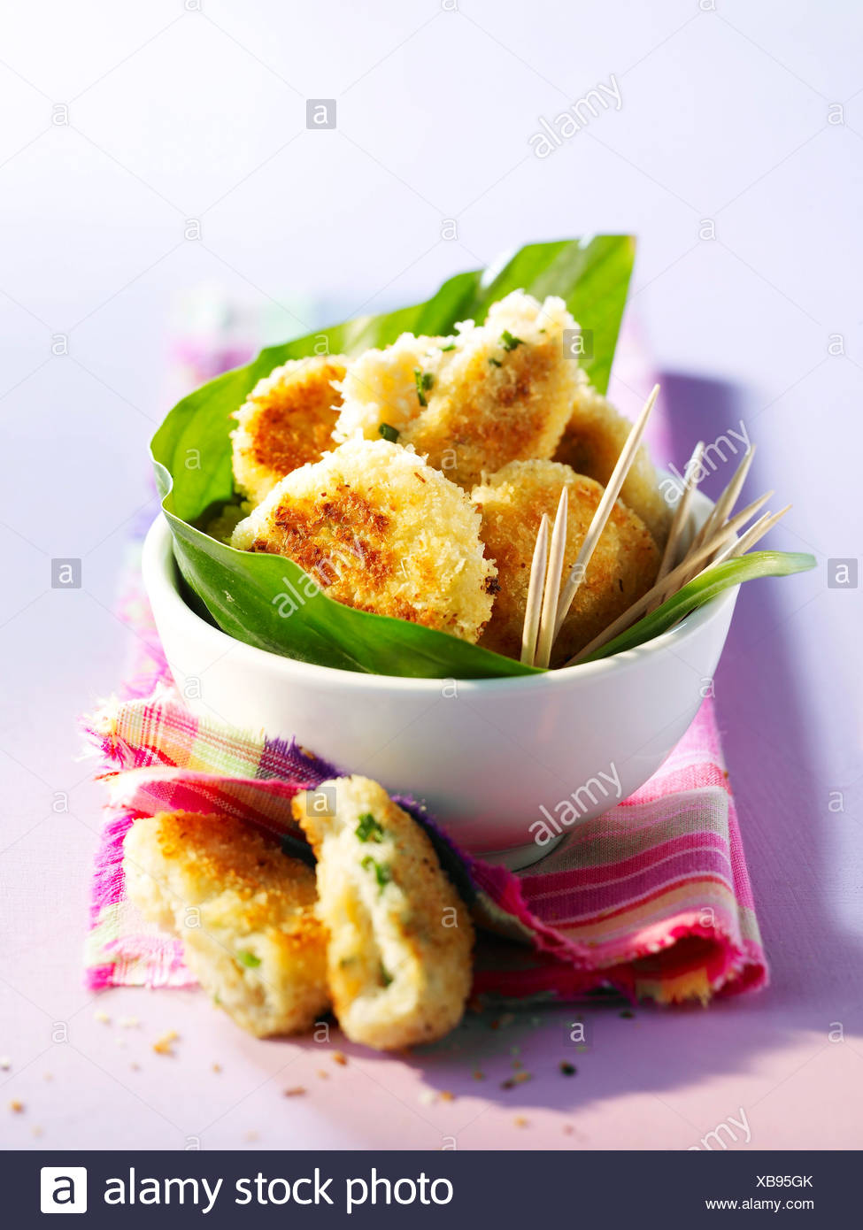 Crab cakes with coconut - Stock Image