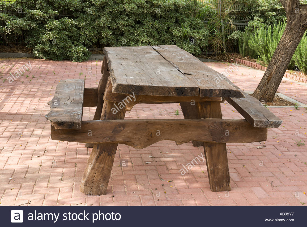 Park Wood Timber Picnic Seat Bench Rural Forest Peasant - Timber picnic table