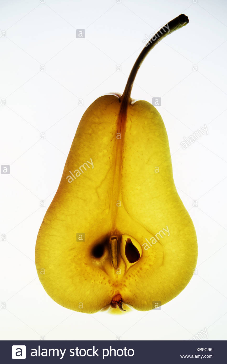 pear transparent - Stock Image
