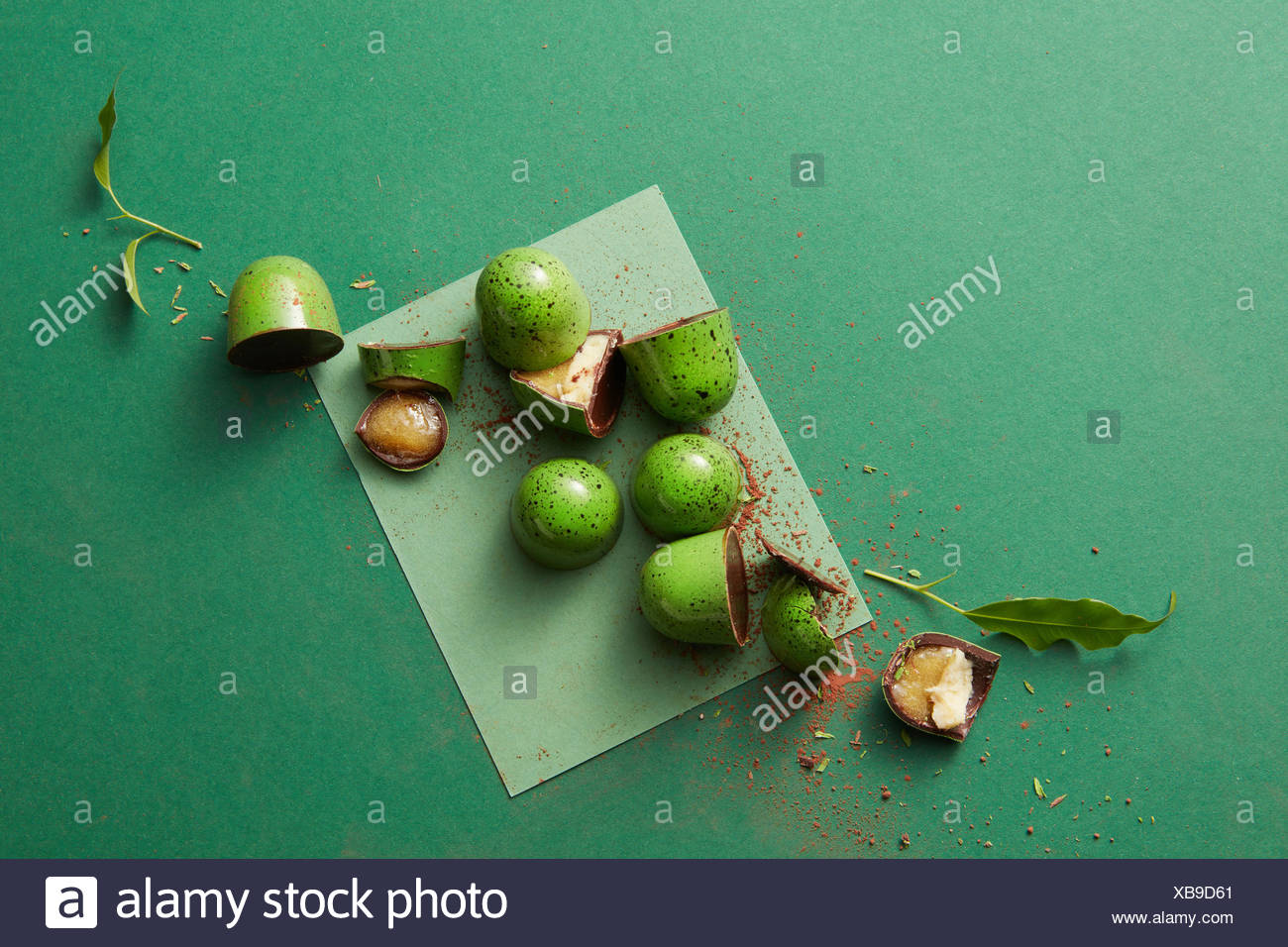 candy green chocolate - Stock Image
