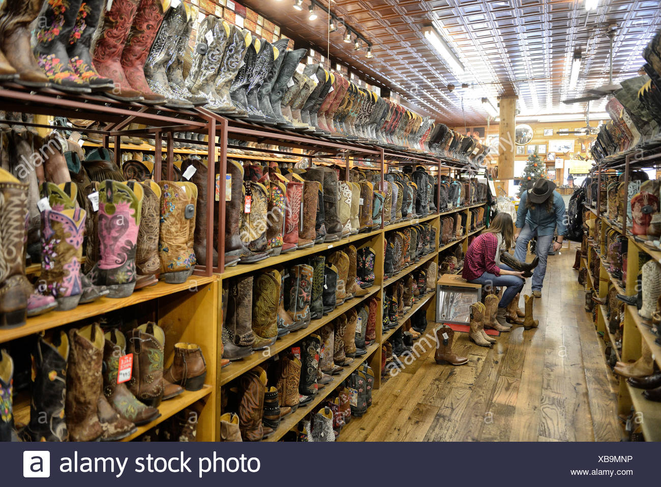 USA, United States, America, Texas, Austin, boot, boots, store, shopping, Americana - Stock Image