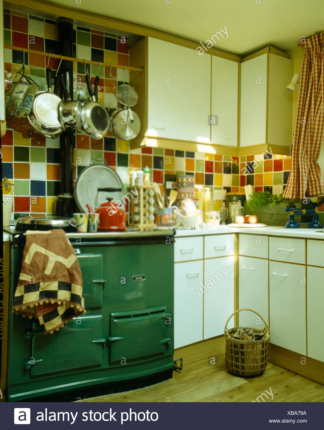 Coloured Kitchen Tiles High Resolution Stock Photography And Images Alamy