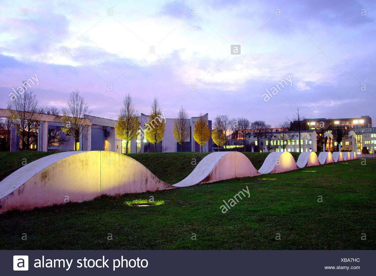 Duisburg garten der erinnerung altstadtpark - Stock Image
