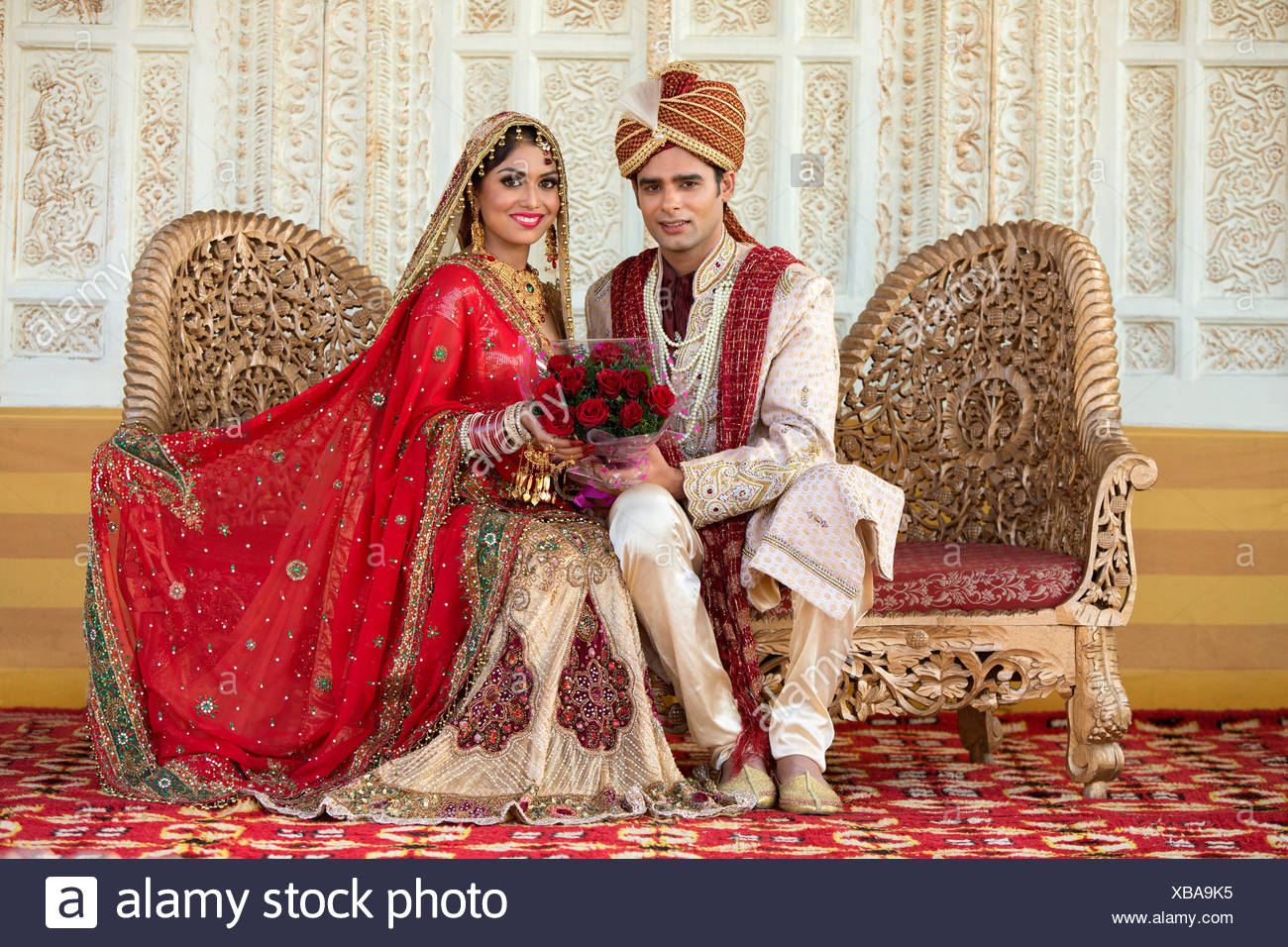 Indian Marriage Couple Full View High Resolution Stock Photography And Images Alamy