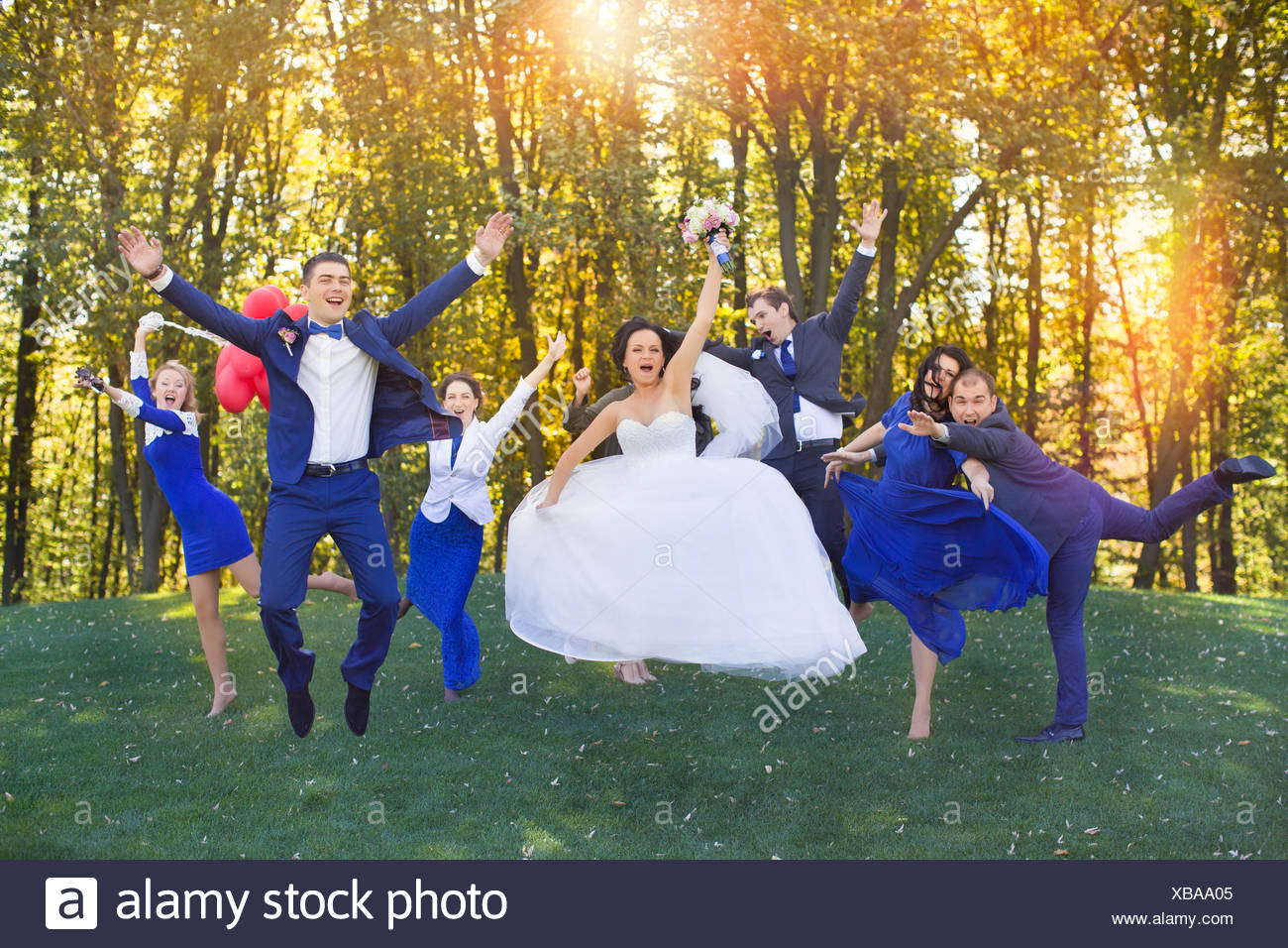 Funny guests at the wedding - Stock Image