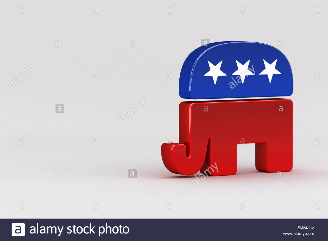 Republican elephant, mascot of the Republican Party, USA - Stock Image