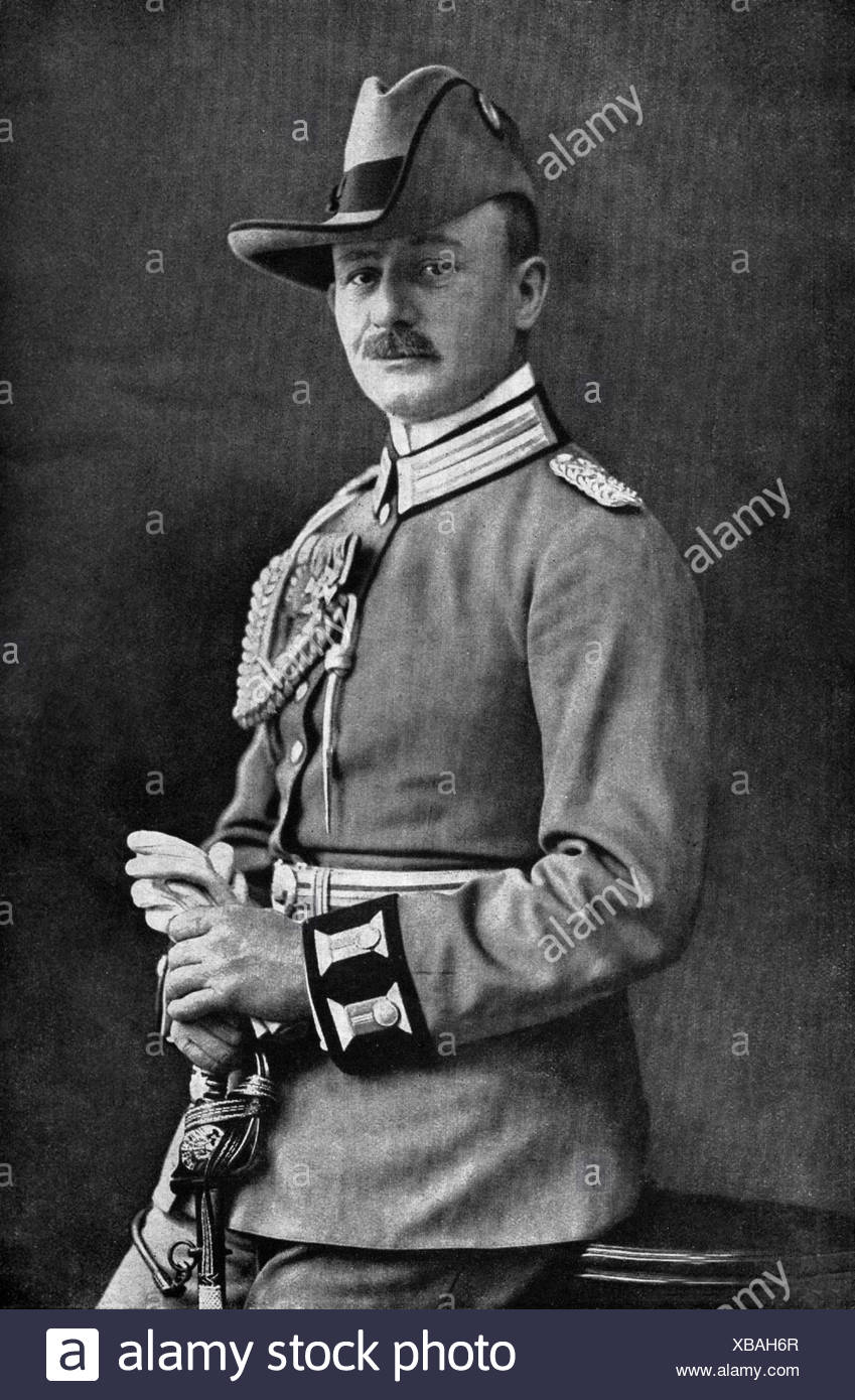 Lettow-Vorbeck, Paul von, 20.3.1870 - 9.3.1964, German general, commander of the German forces in East Africa 1913 - 1918, half length, photo by Noack, Berlin, 1913, , Additional-Rights-Clearances-NA - Stock Image