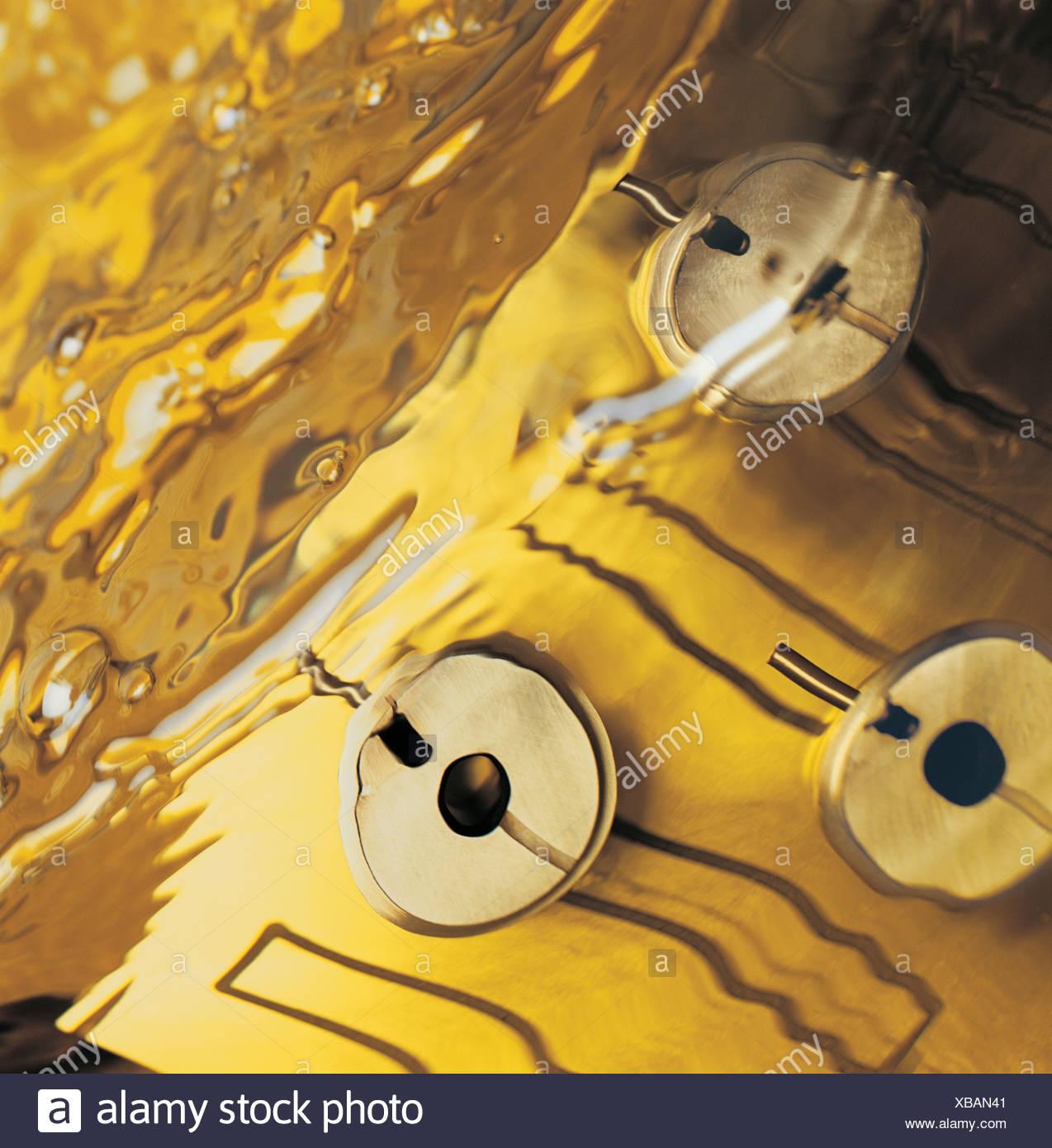 Electrolysis at work under water - Stock Image