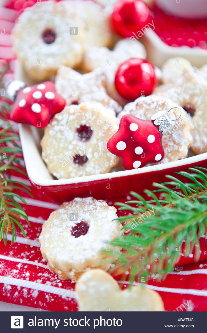 Jam Filled Christmas Cookies Stock Photo 282366040 Alamy