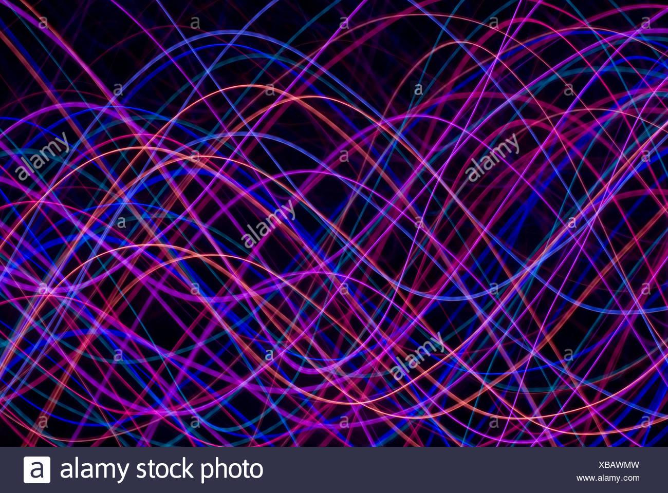 vivid magenta waveforms - Stock Image