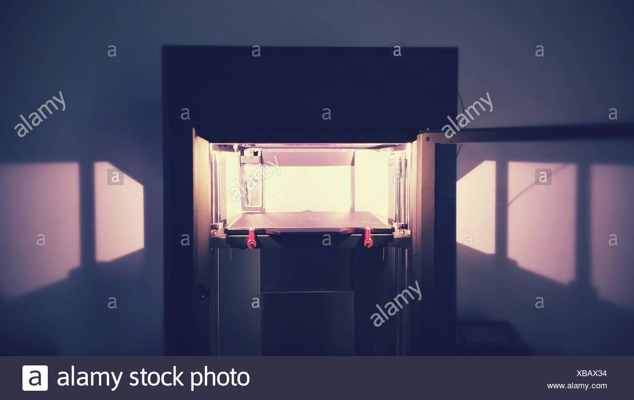 Three Dimensional Printer In Room - Stock Image