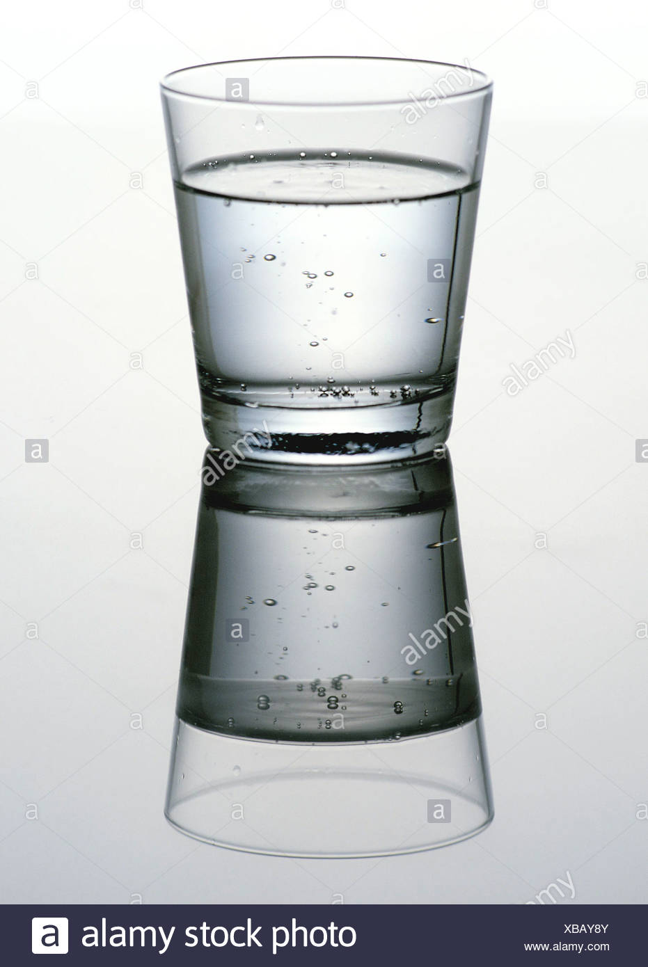 Glas with mineral water - Stock Image