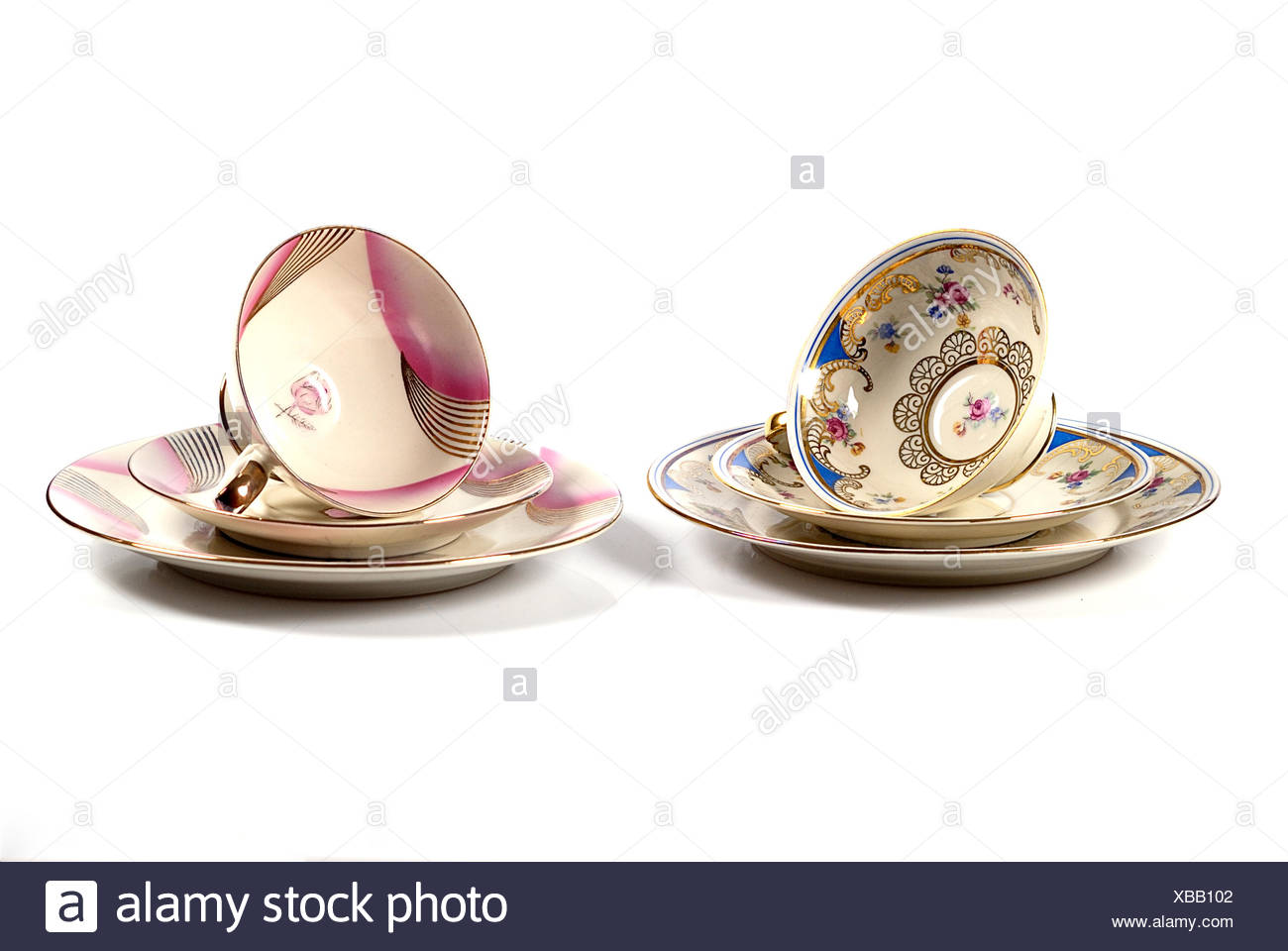cup saucer cups Stock Photo