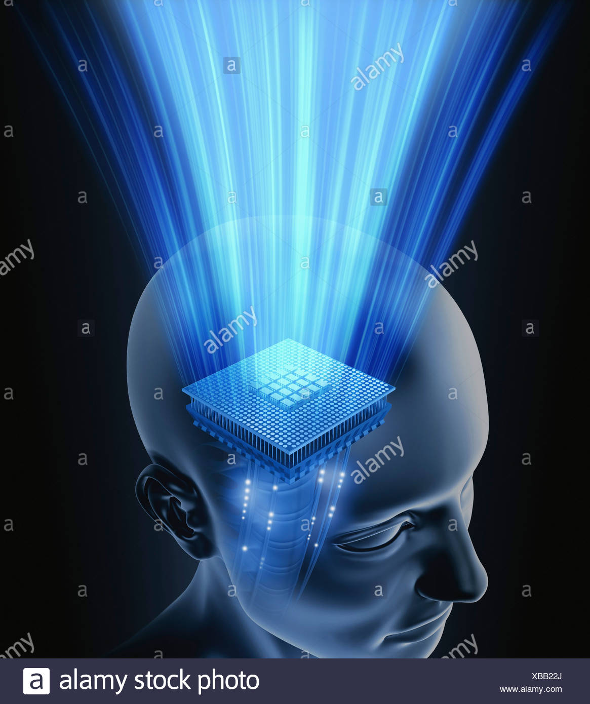 Artificial intelligence, conceptual image - Stock Image
