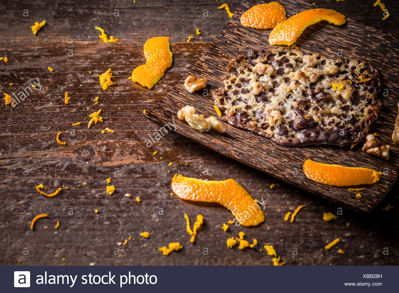 Candied orange brittle cake - Stock Image