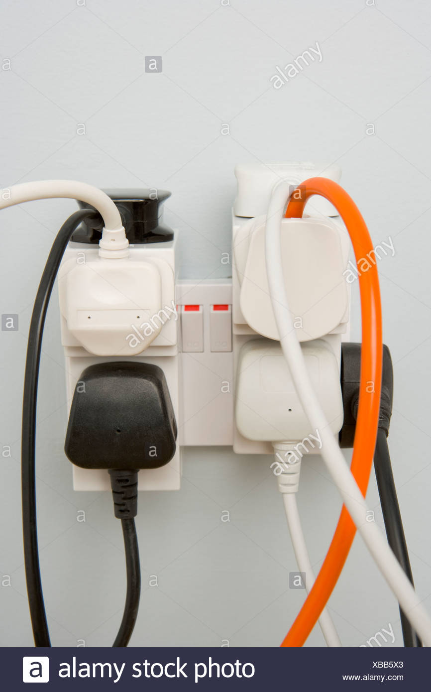 Overloaded Outlet - Stock Image