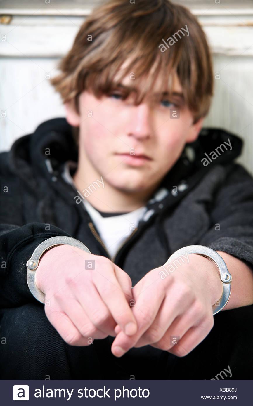 crime law teenager - Stock Image