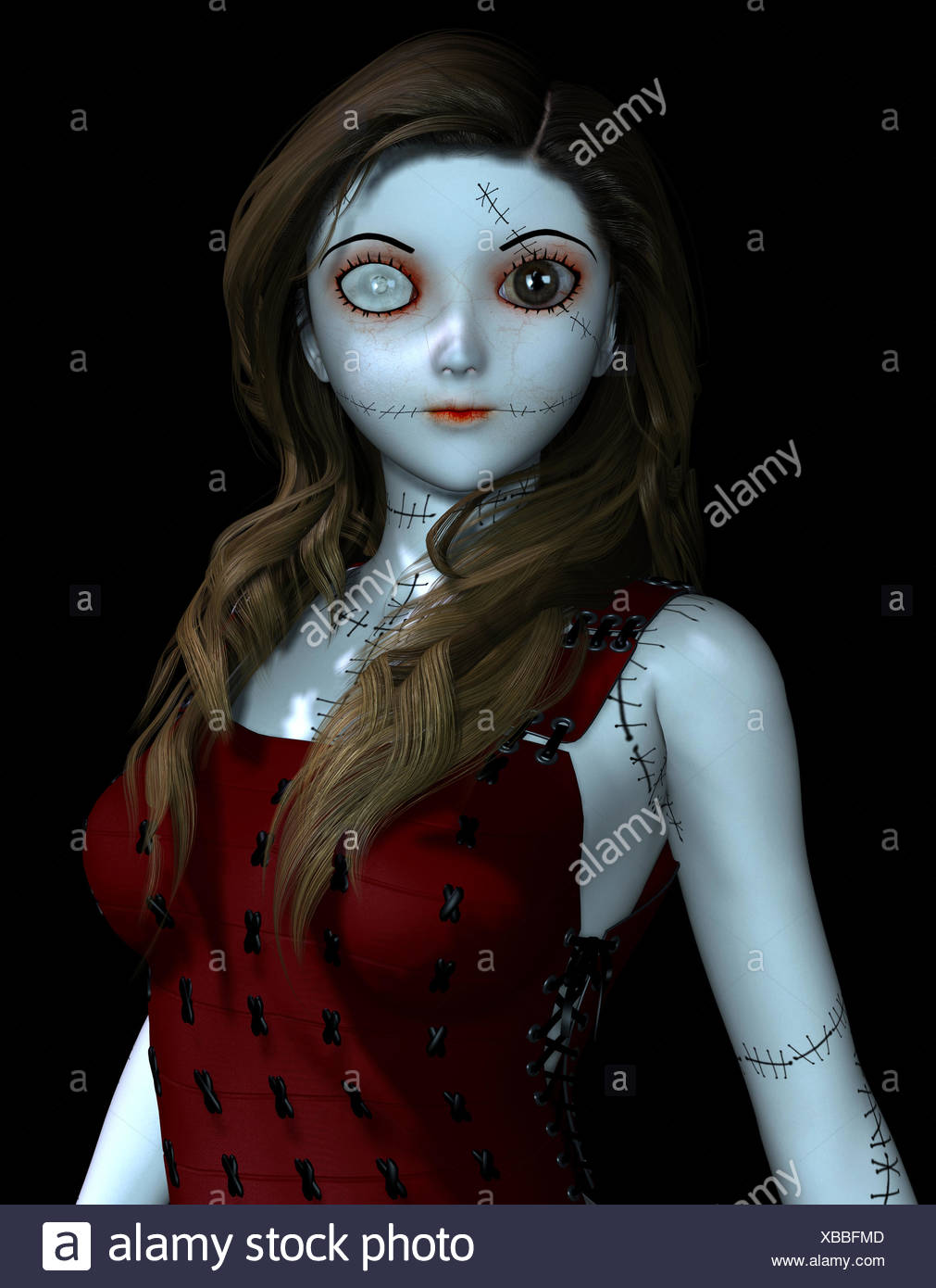Doll with scars Stock Photo