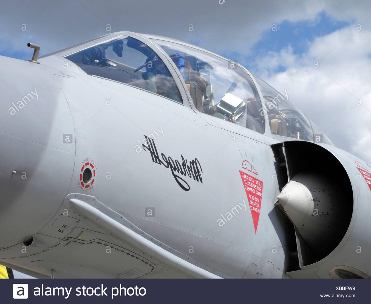 Mirage III cockpit - Stock Image