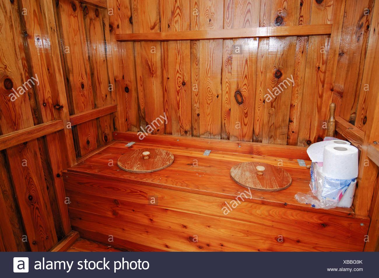 WC hut, dunny, Lofoten, Norway - Stock Image