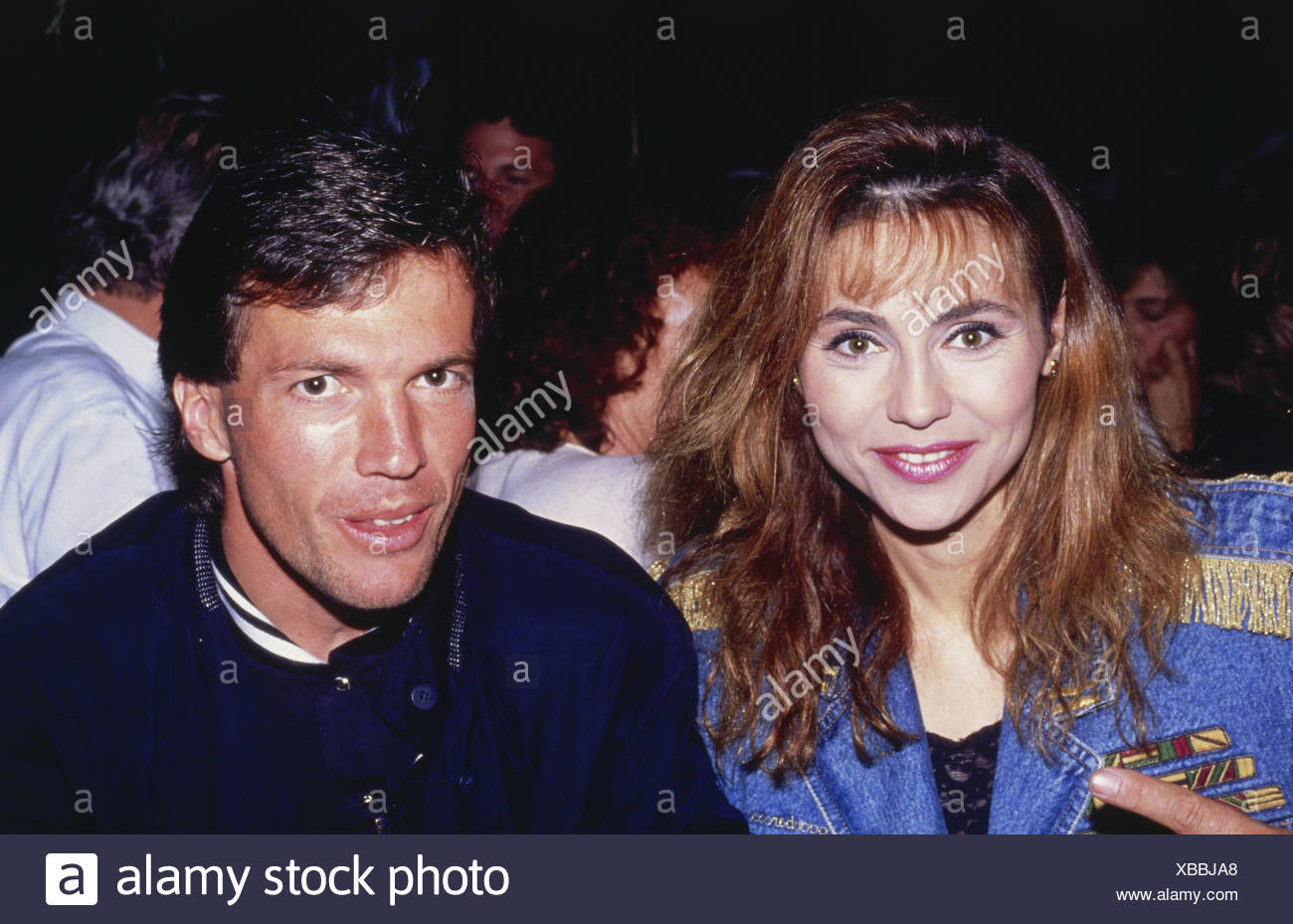 Matthäus, Lothar  * 21.3.1961, German athlete (soccer/football), half length with his second wife Lolita Morena, 1990s years, Additional-Rights-Clearances-NA - Stock Image