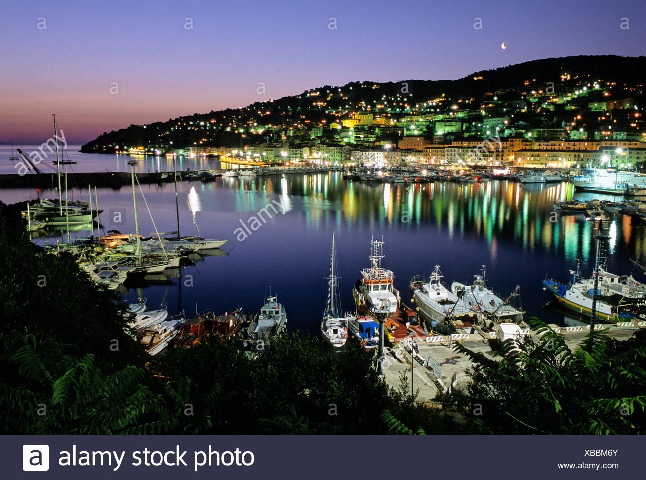 Harbour, Porto Santo Stefano, Monte Argentario, Maremma, Grosseto Province, Tuscany, Italy, Europe - Stock Image