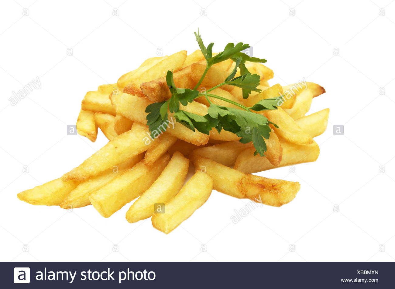 French fries and barbecue - Stock Image