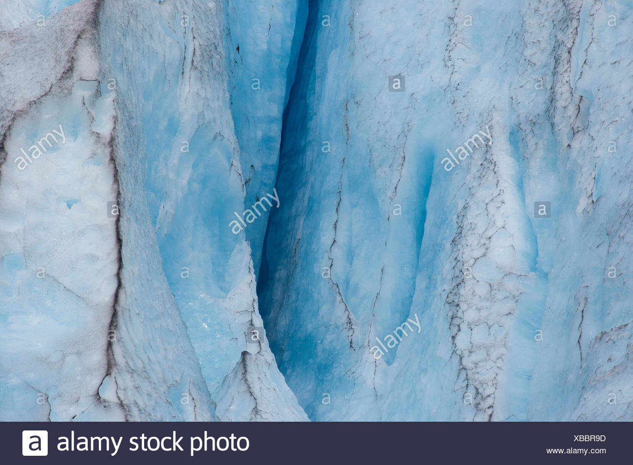 crevasse at Nigardsbreen glacier, Norway, Jostedalsbreen National Park - Stock Image