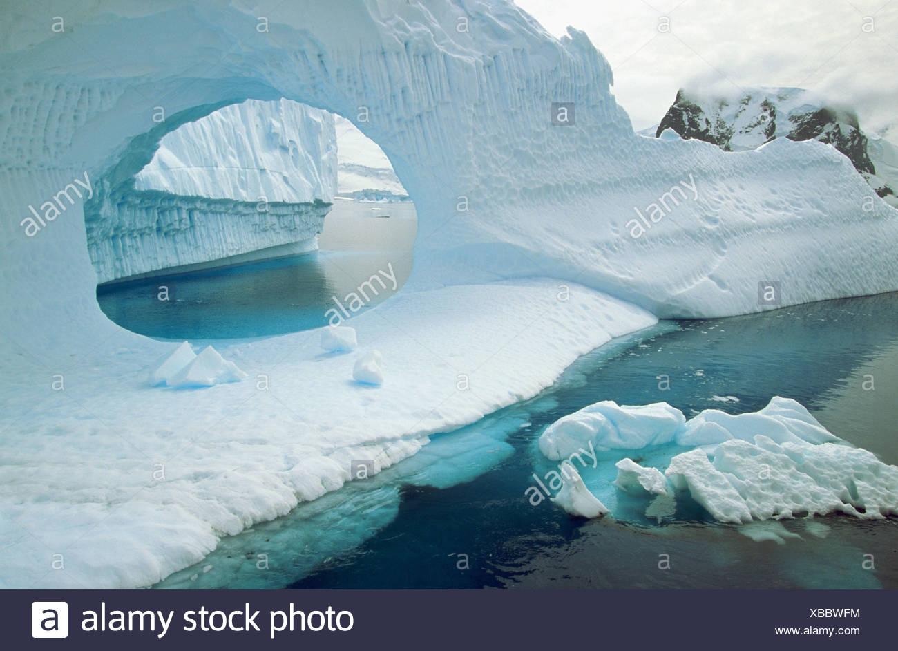 Iceberg in Andvord Bay. Antartica Stock Photo