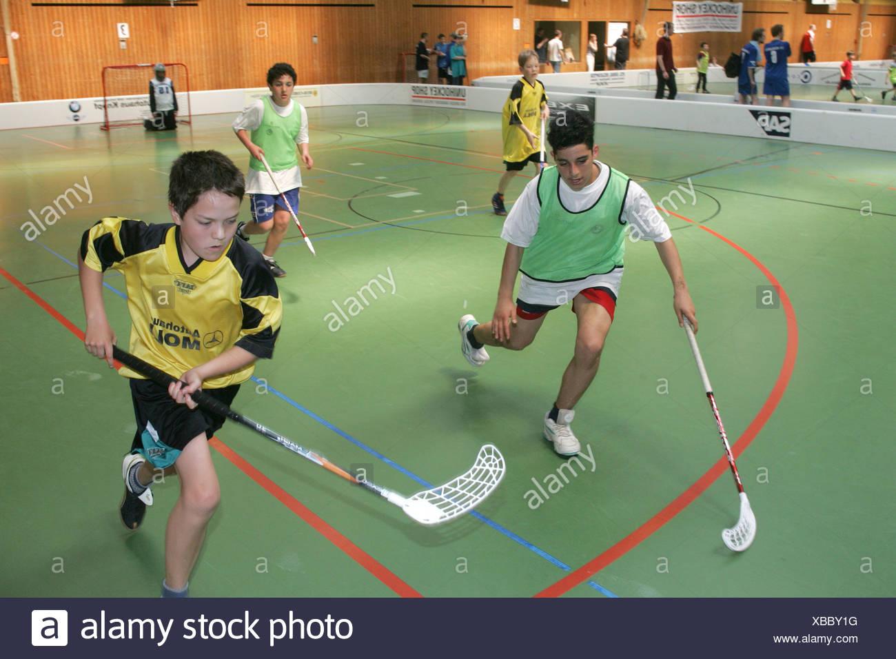 Heidelberg, DEU, 30.04.2005, Unihockey tournament - Stock Image