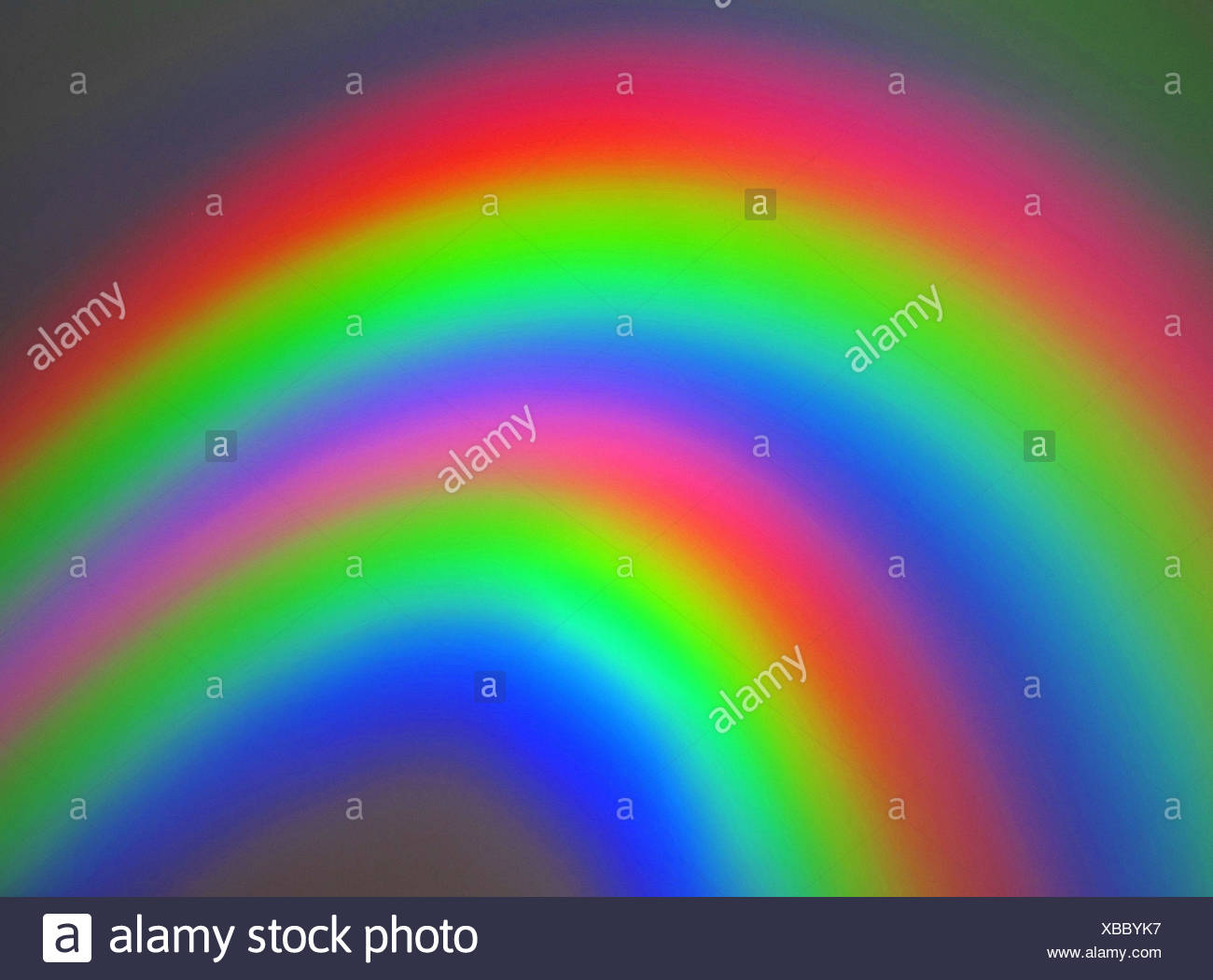Colors, rings, spectral colors, rainbow colors, alienated, brightly, concepts, - Stock Image