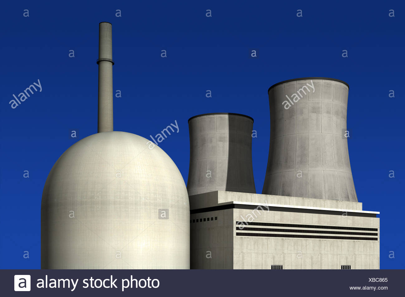 frowningly menacing threat radiation deterring blue danger frowningly menacing Stock Photo