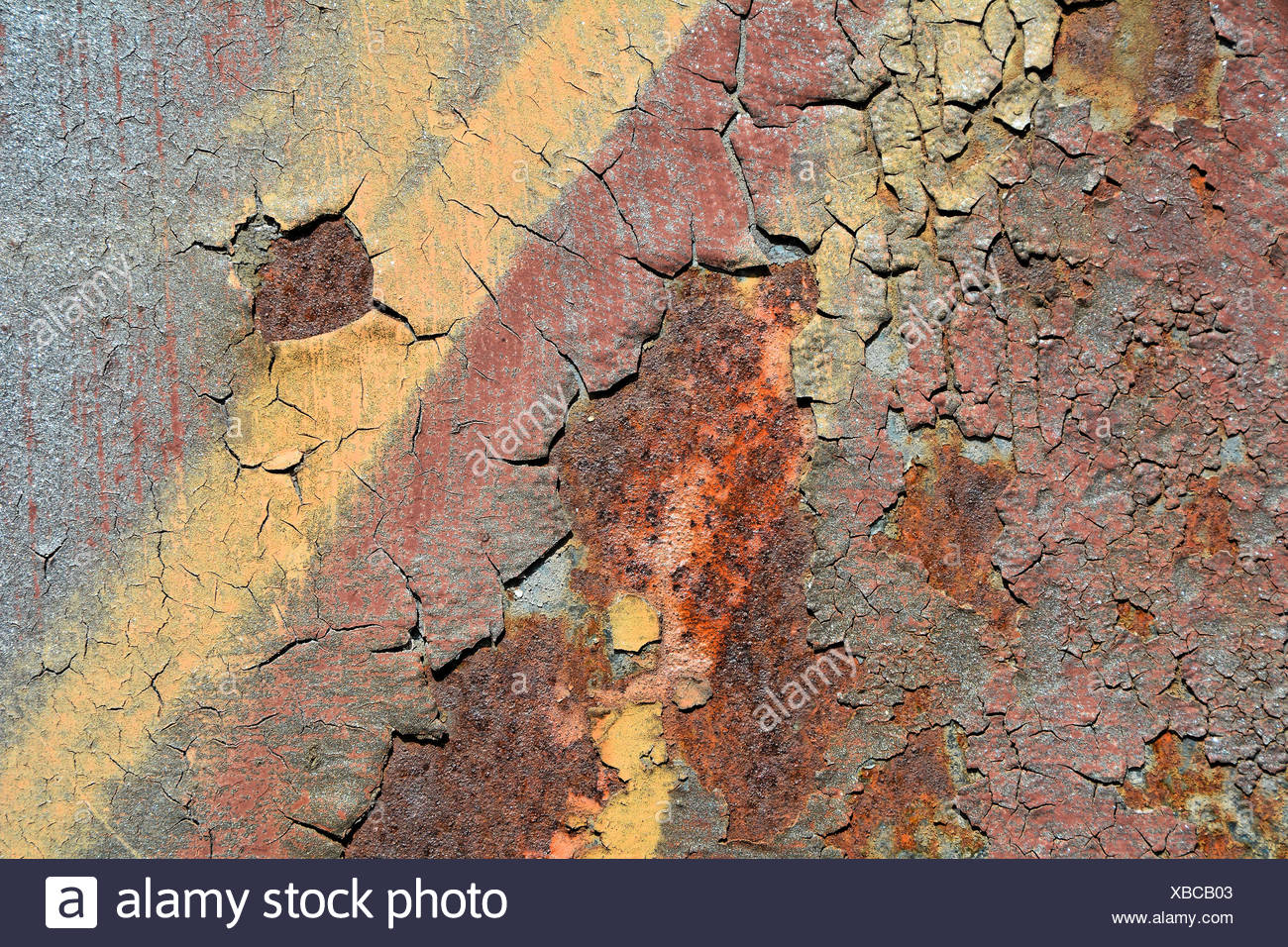 Rust on the surface of metal Stock Photo