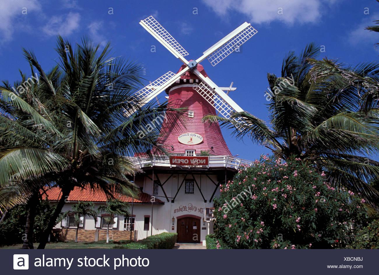 Aruba Caribbean Dutch Antilles Mill Restaurant Palm Beach