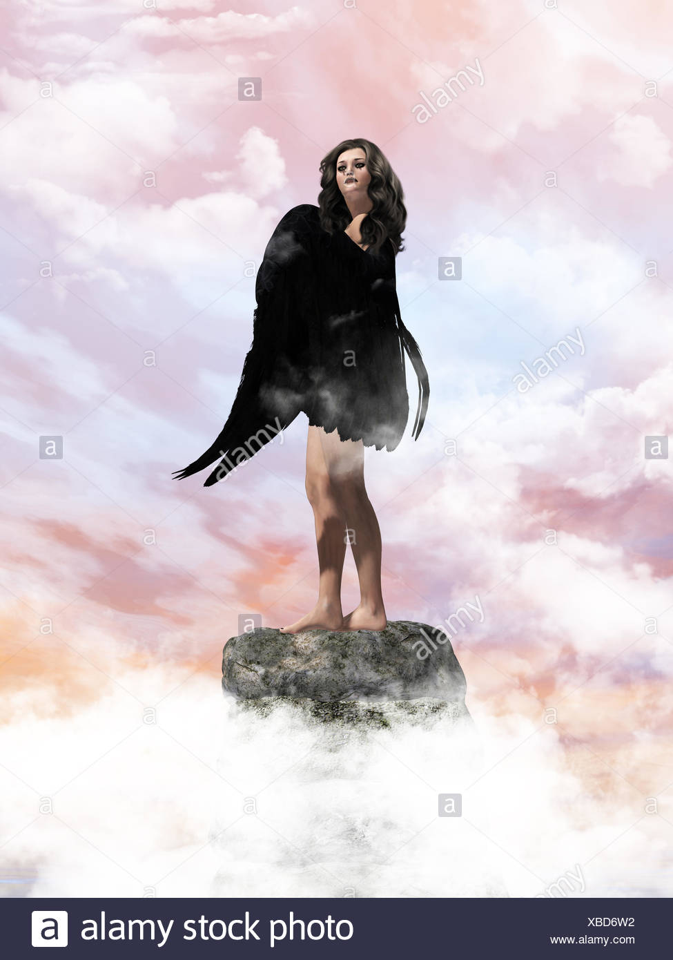 Angel In The Clouds - Stock Image